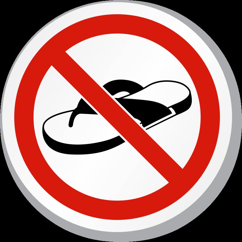 No sandals clipart.