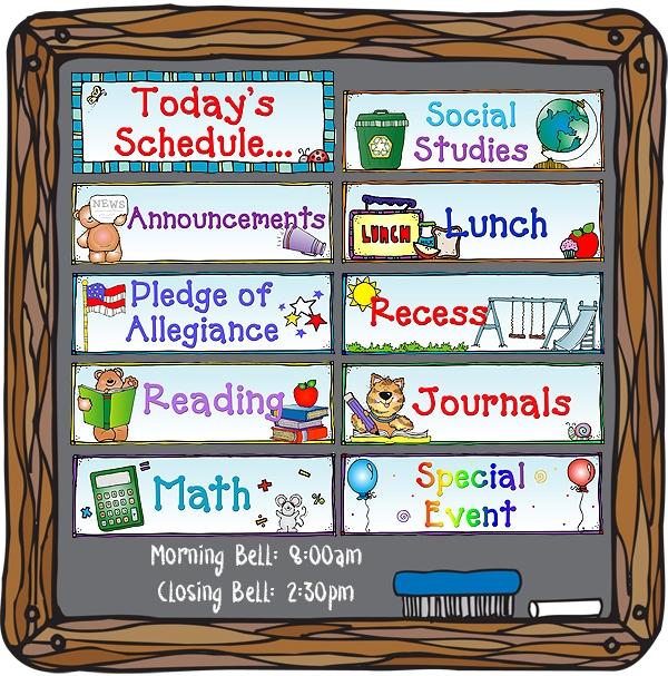 Schedule Clip Art Free.