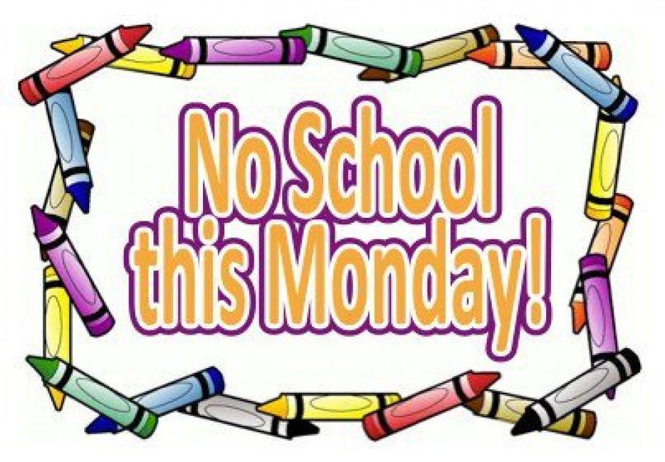 No School Monday Clipart.
