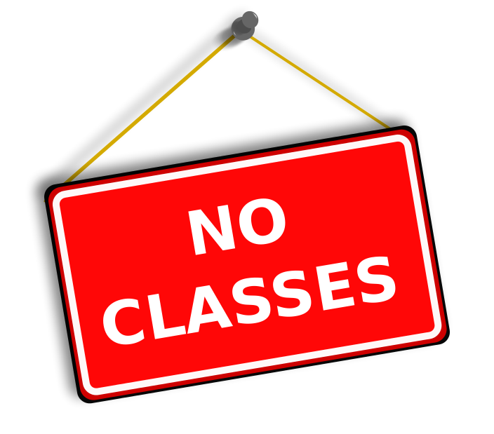 No classes next week Monday and Tuesday Nov. 12th and 13th.