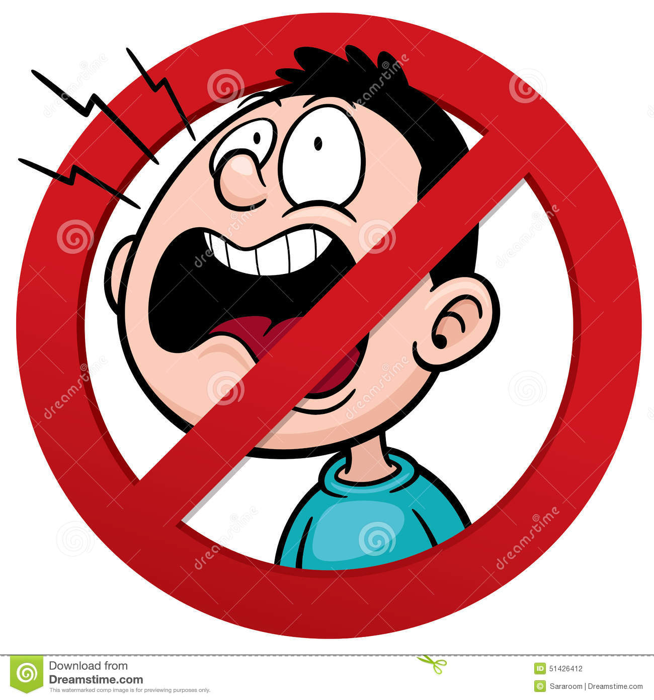 No Yelling Clipart.