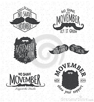 No Shave November Clipart.