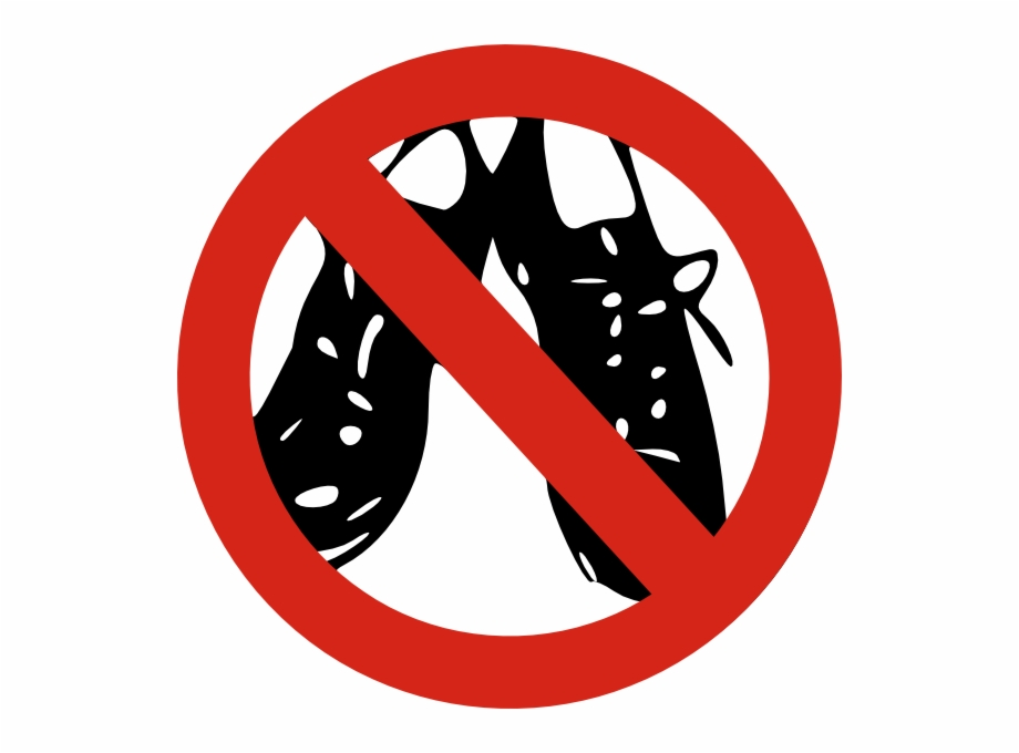 No Shoes Allowed Clip Art.