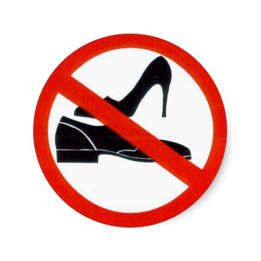 No shoes allowed clipart 1 » Clipart Station.