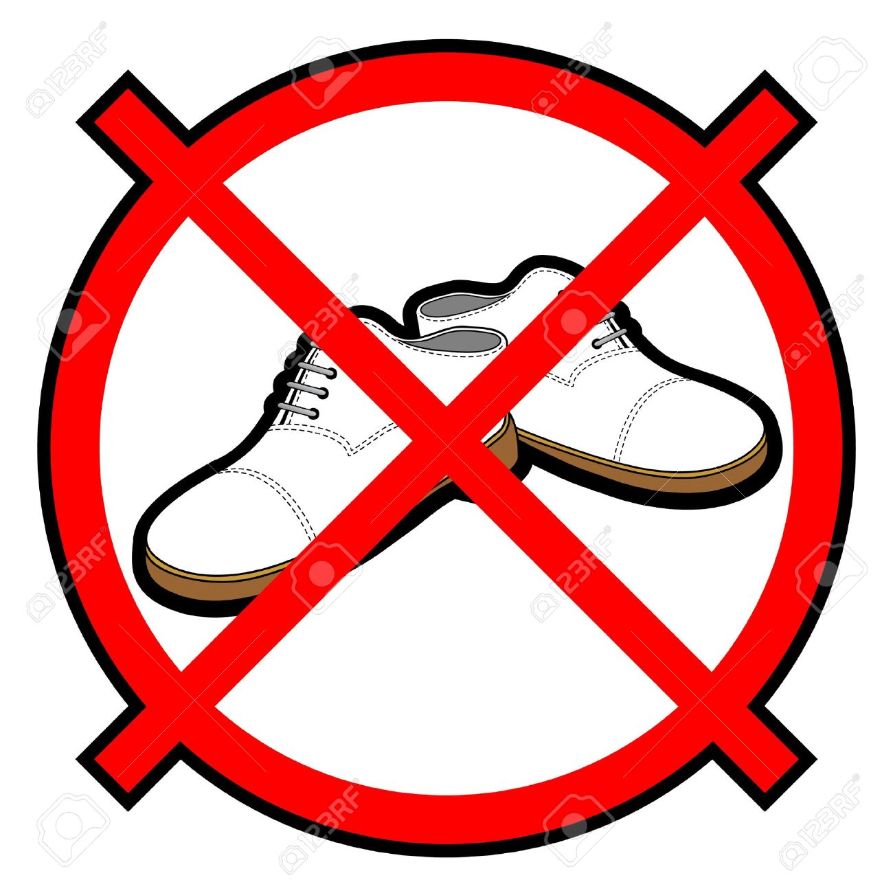 No shoes allowed clipart 7 » Clipart Station.