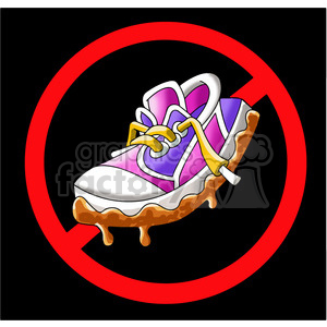 no muddy shoes sign clipart. Royalty.