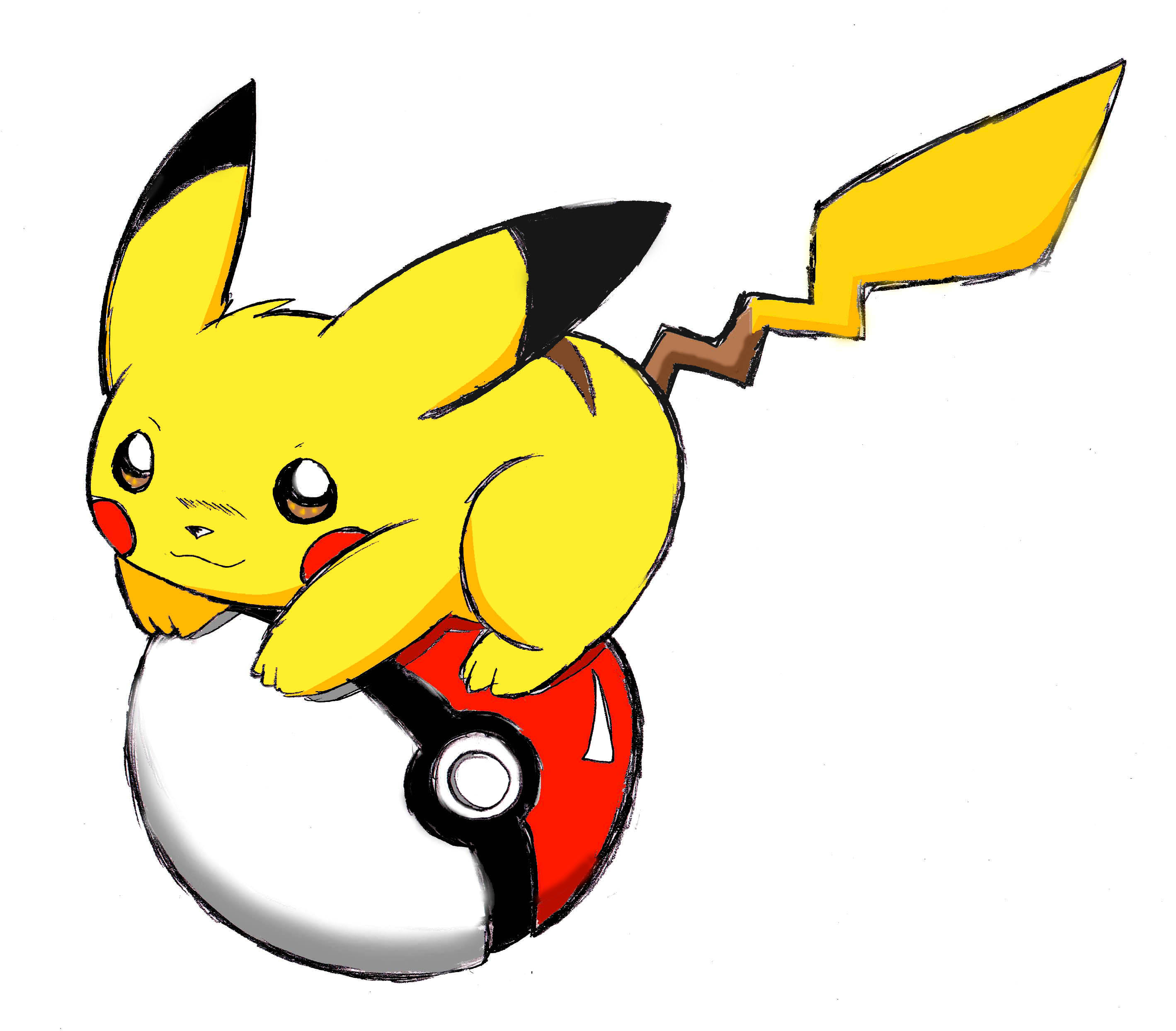 Pikachu Sitting Clipart No Background.