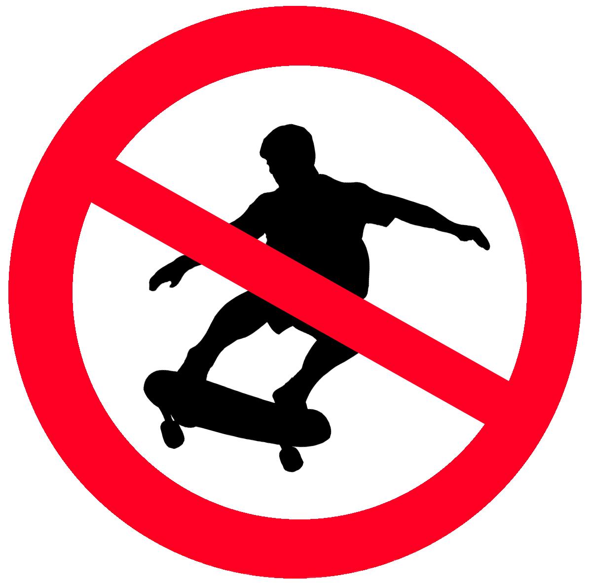 No Skate Clipart.