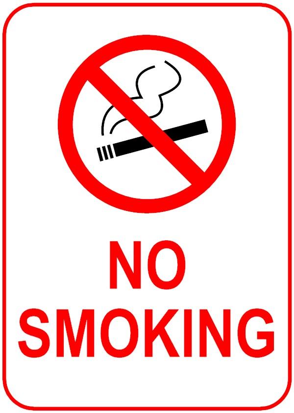 Signage Of No Smoking.