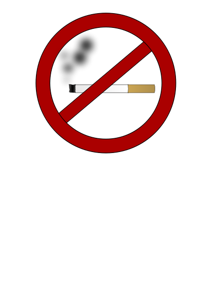 No smoking clipart vector clip art free design.