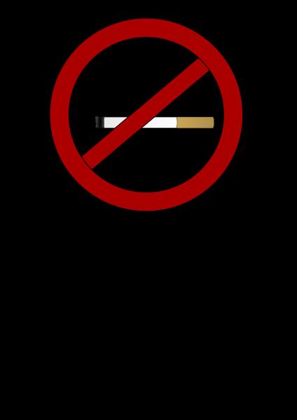 No smoking clipart vector clip art free design.