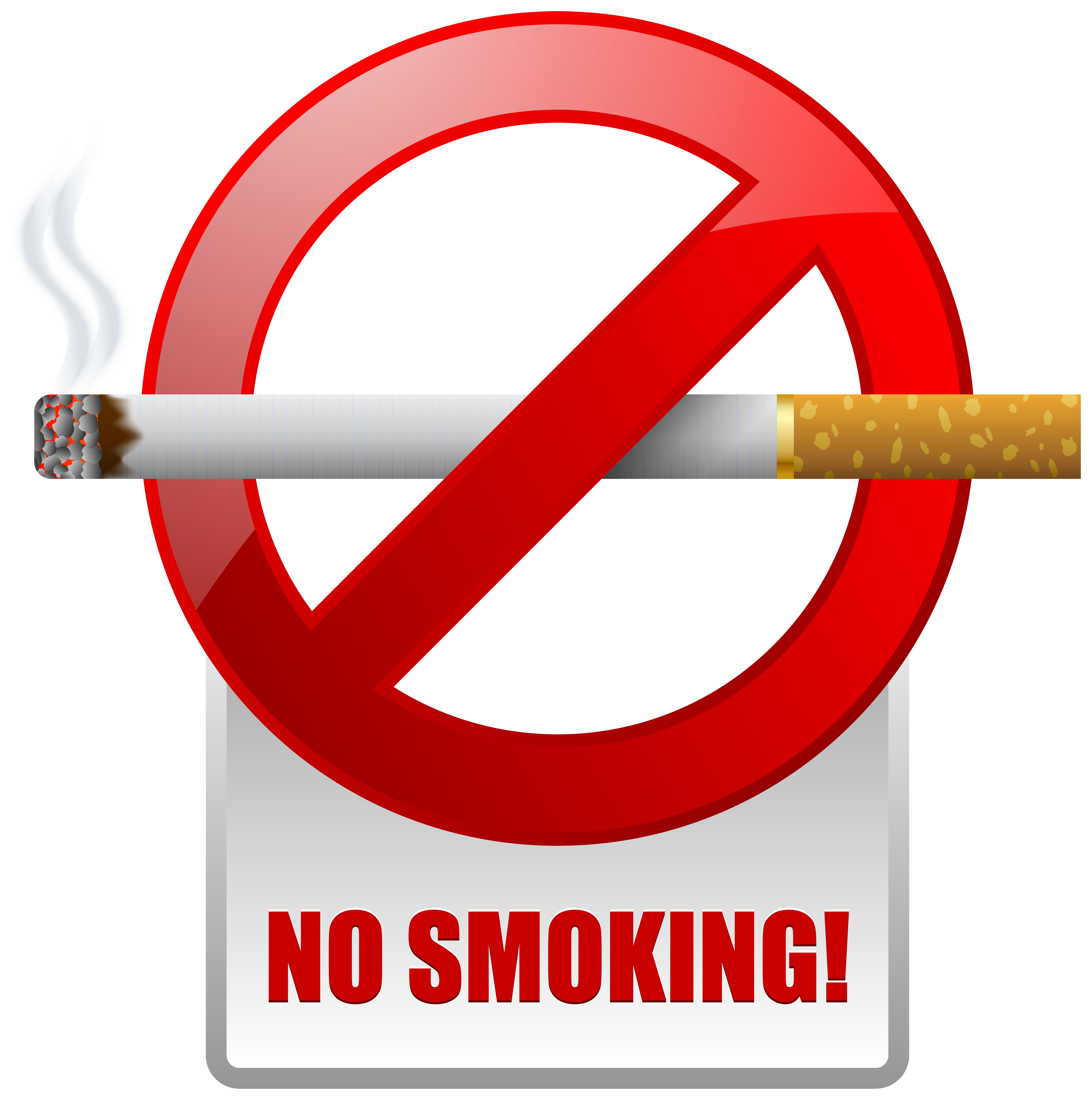 Red No Smoking Warning Sign PNG Clipart.