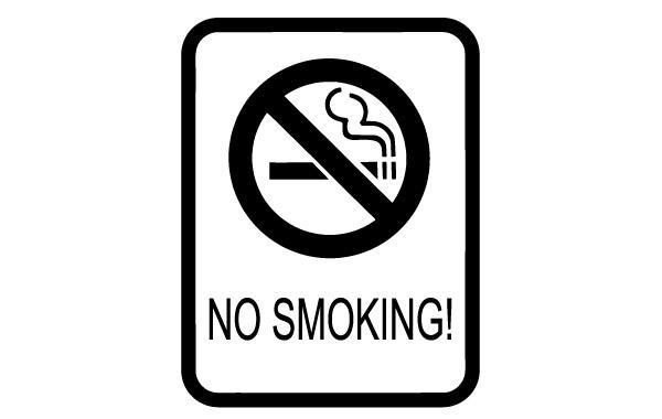 No Smoking Sign clip art.