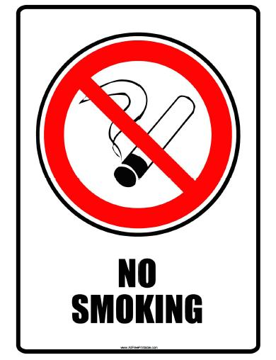 No Smoking Signs Free.