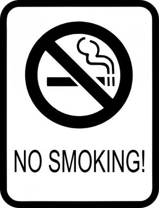 No Smoking Signs Clipart.