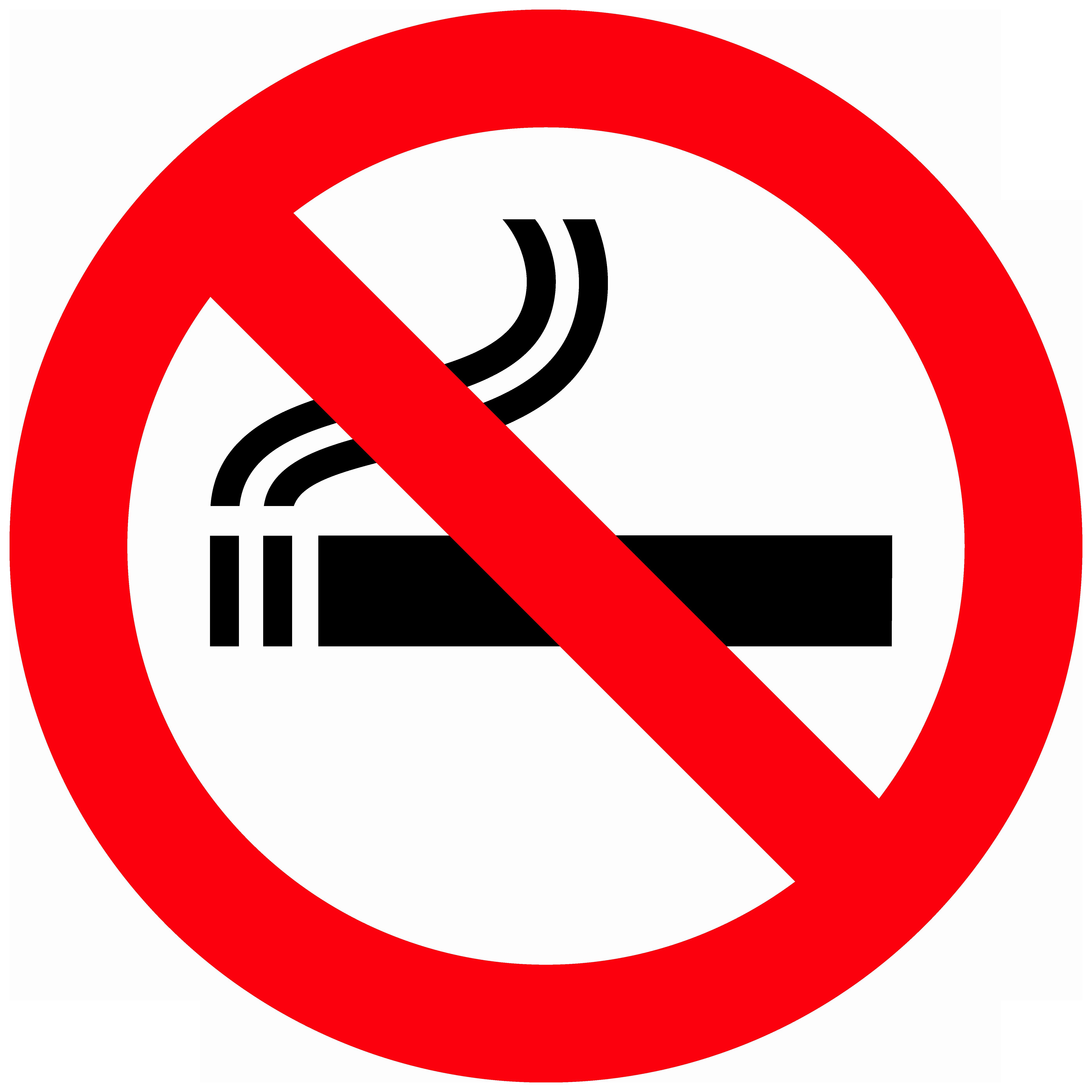 No Smoking Sign PNG Clipart.