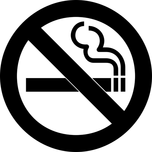 AIGA sign for no smoking vector clip art.