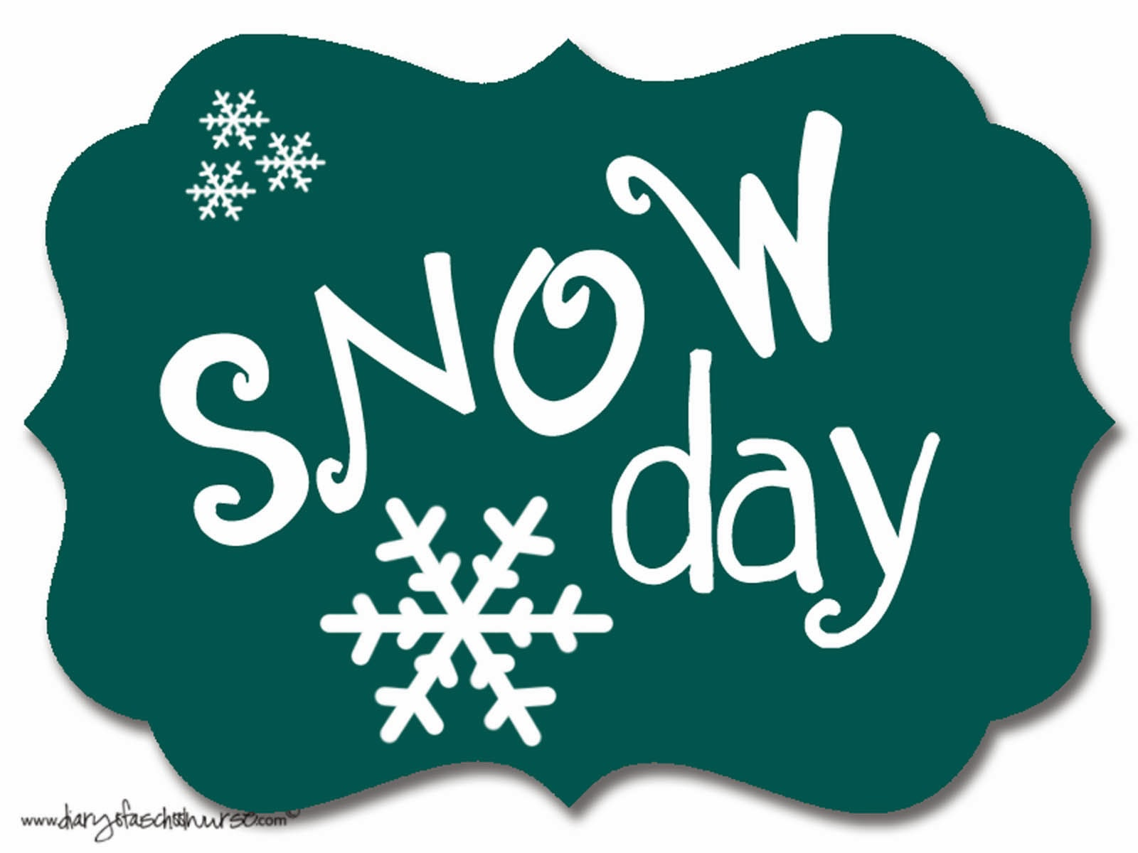No School Snow Day Clipart.
