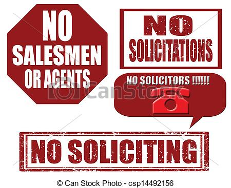 Clipart Vector of No soliciting.