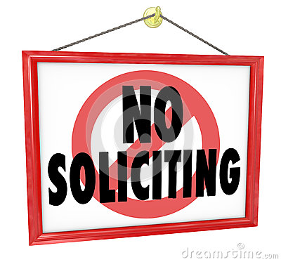 No Solicitors Royalty Free Stock Photography.