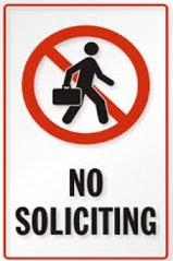 Free No soliciting Clipart.