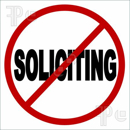 No Soliciting Clipart.