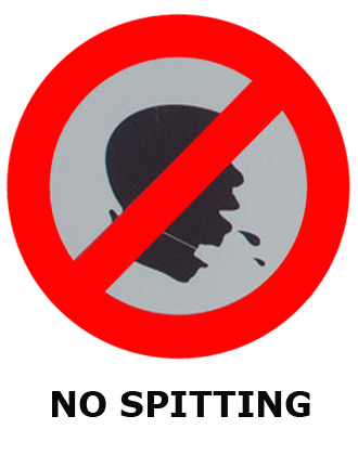 No spitting clipart.