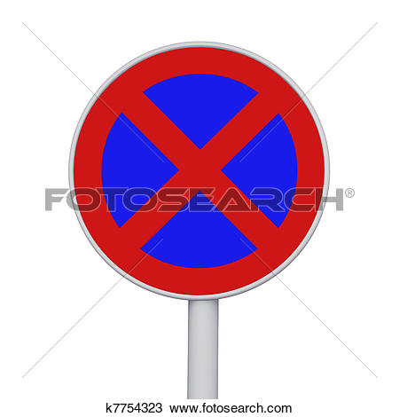 Drawing of No stopping and parking sign k7754323.