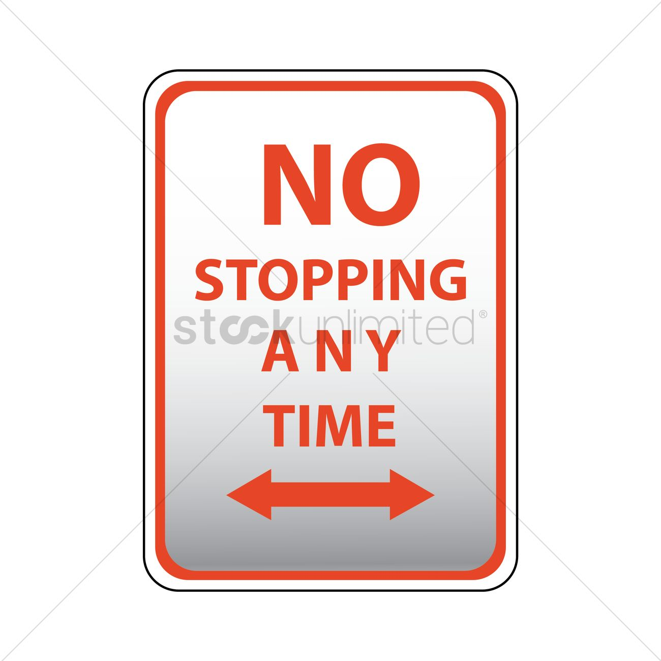 No stopping any time road sign Vector Image.