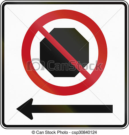Clip Art of No Stopping In Canada.