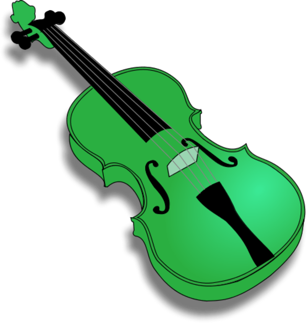 Violin with no strings vector clip art.