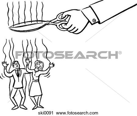 Clipart of no strings attached b&w ski0091.