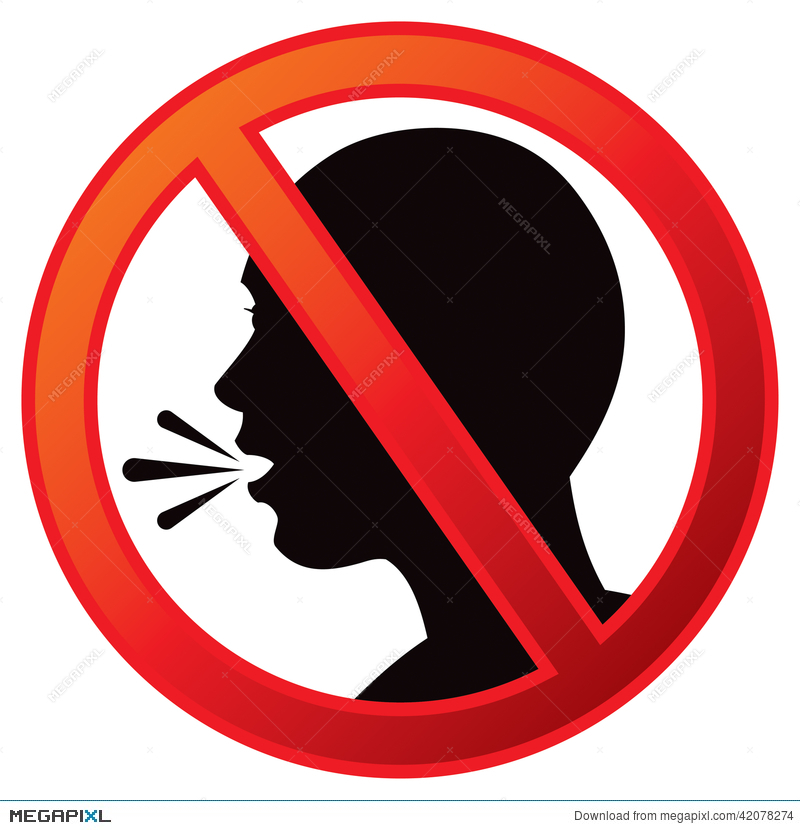 No Talking Sign Illustration 42078274.