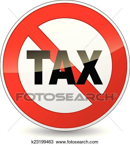No tax sign Clipart.