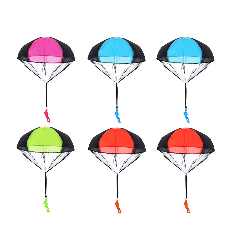 Amazon.com: Messar 6 Pieces Parachute Toys, Tangle Free.