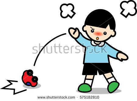 Throwing Toys Clipart.
