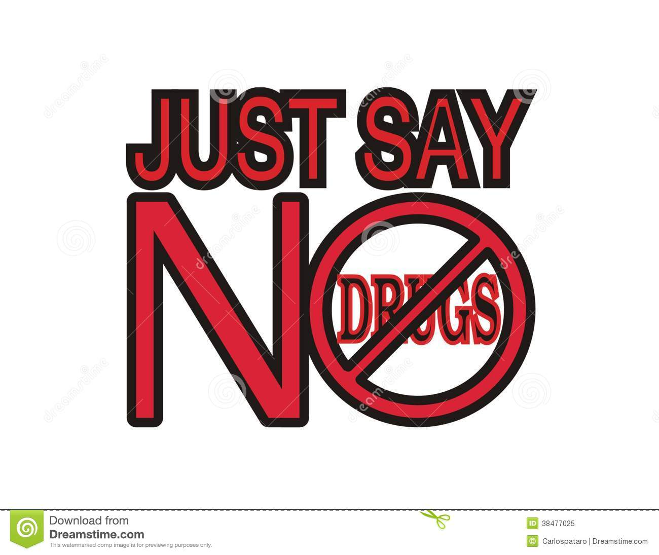 Just Say No To Drugs Clipart.