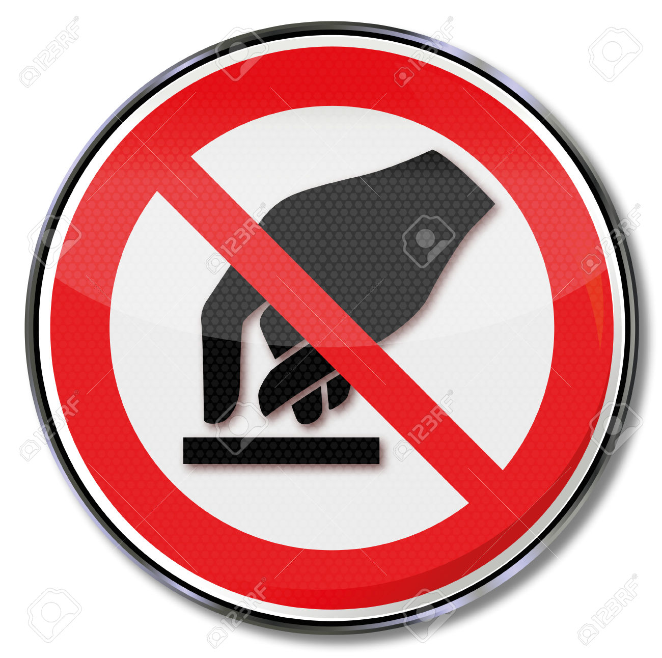 Prohibition Sign Forbidden To Touch Royalty Free Cliparts, Vectors.