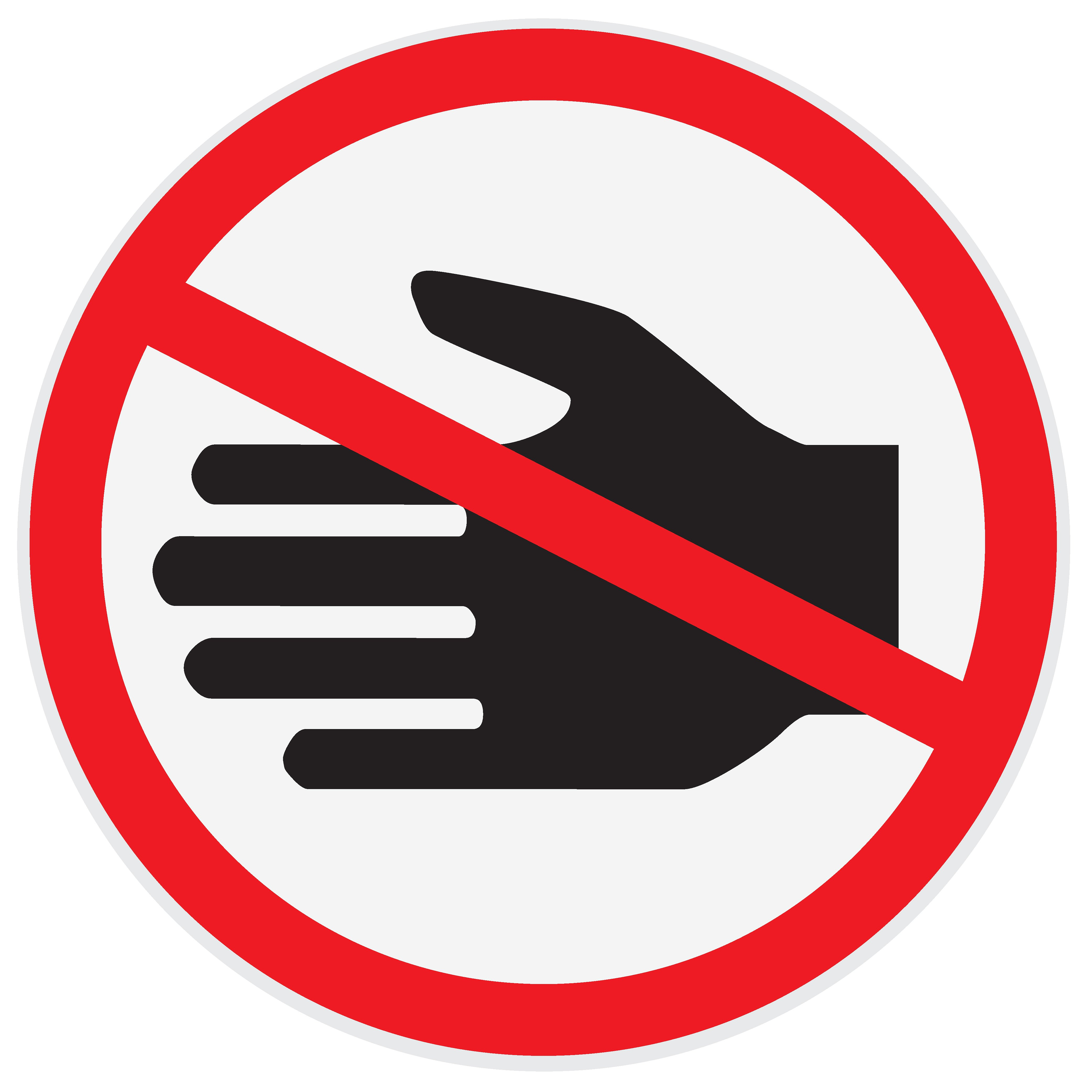 no touch clipart #2