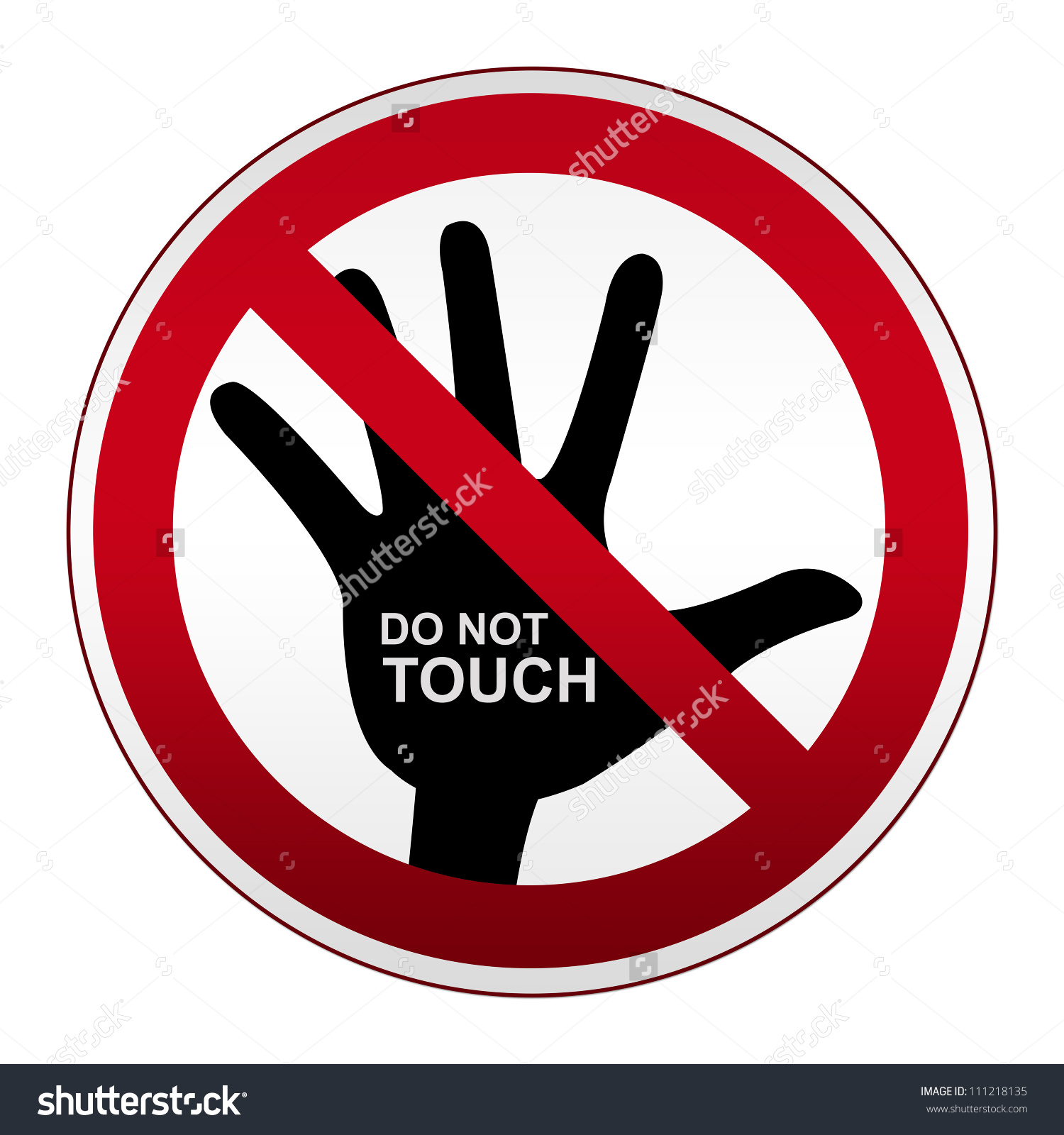 no Touch Clipart (60+).