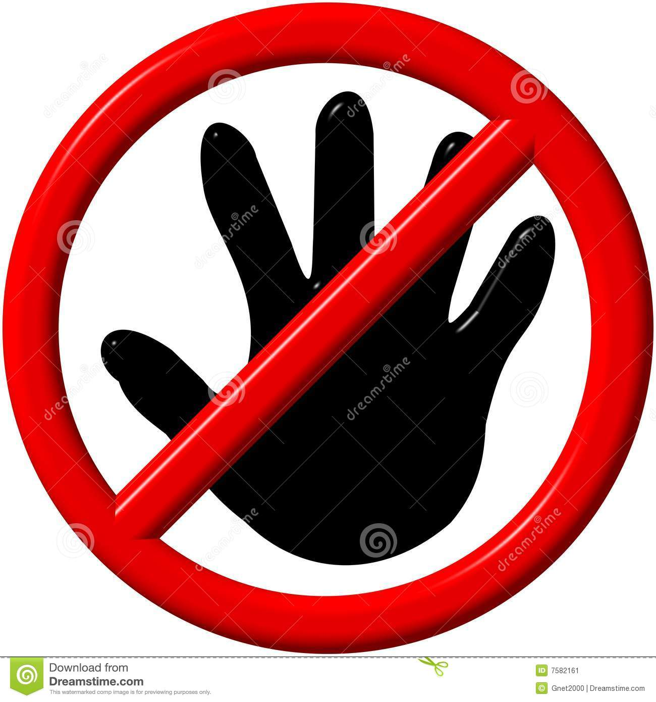 No Touch Sign Stock Illustrations.