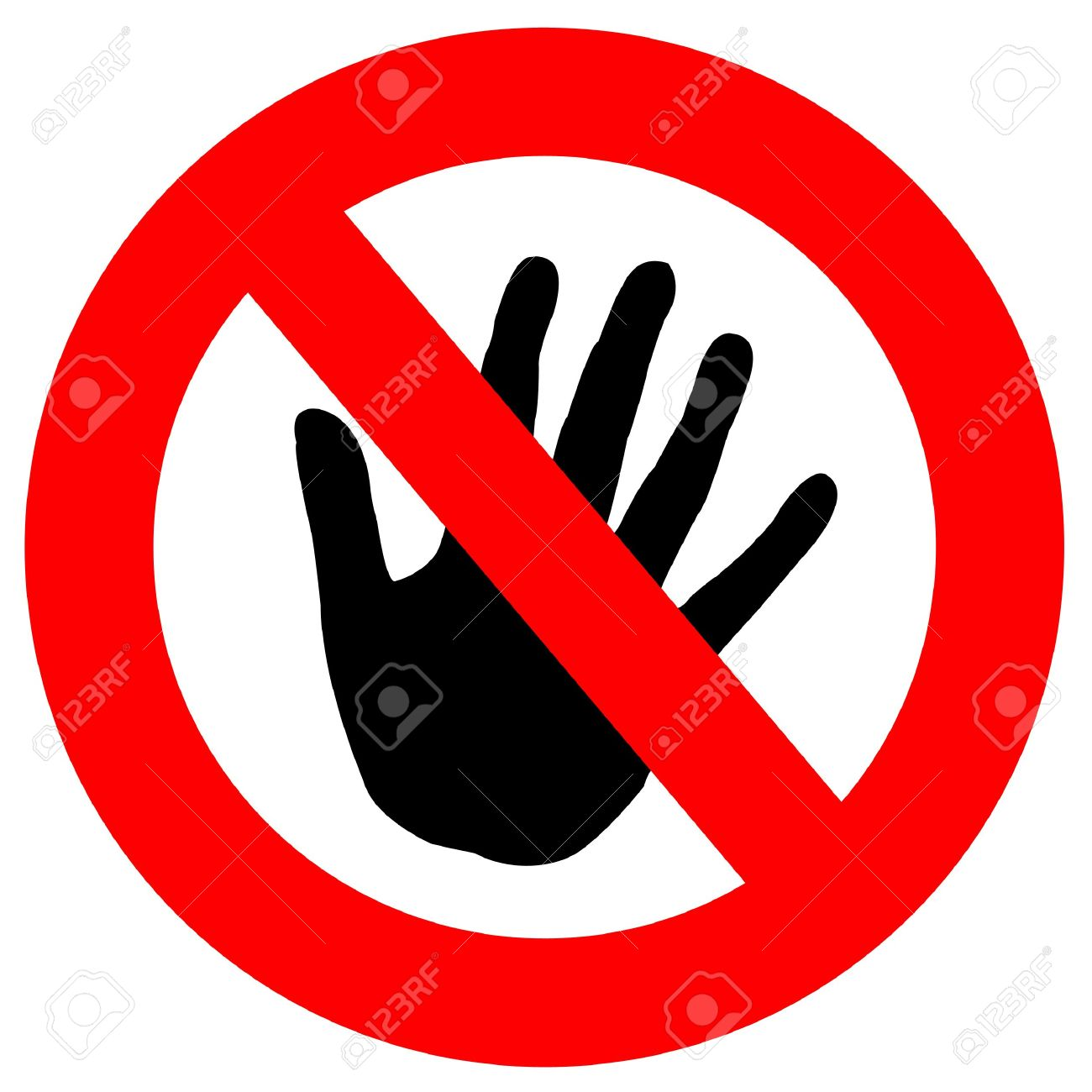Do Not Touch Stock Photo, Picture And Royalty Free Image. Image.