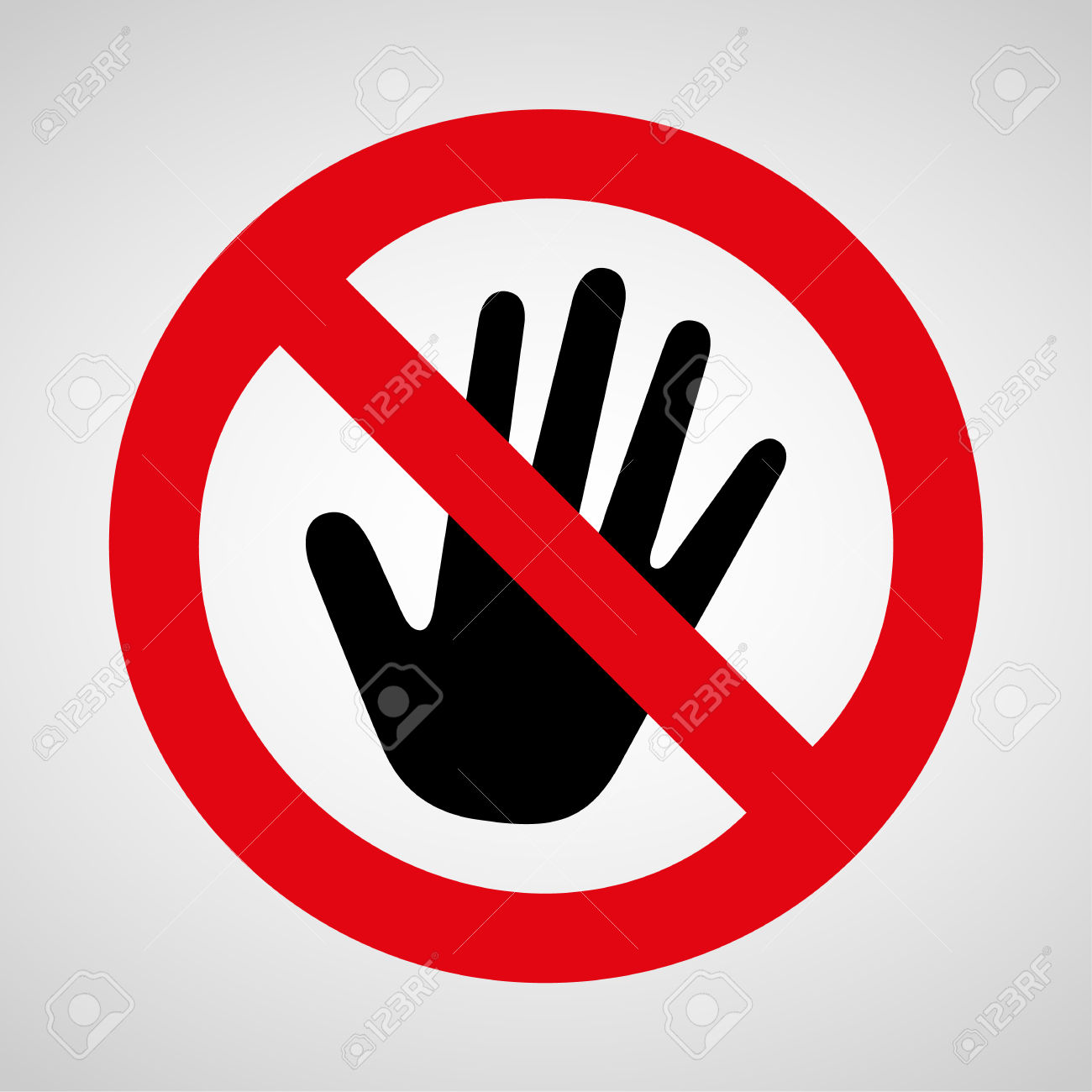 no touching clipart clipground