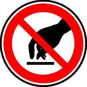 No Touching Clip Art Download.