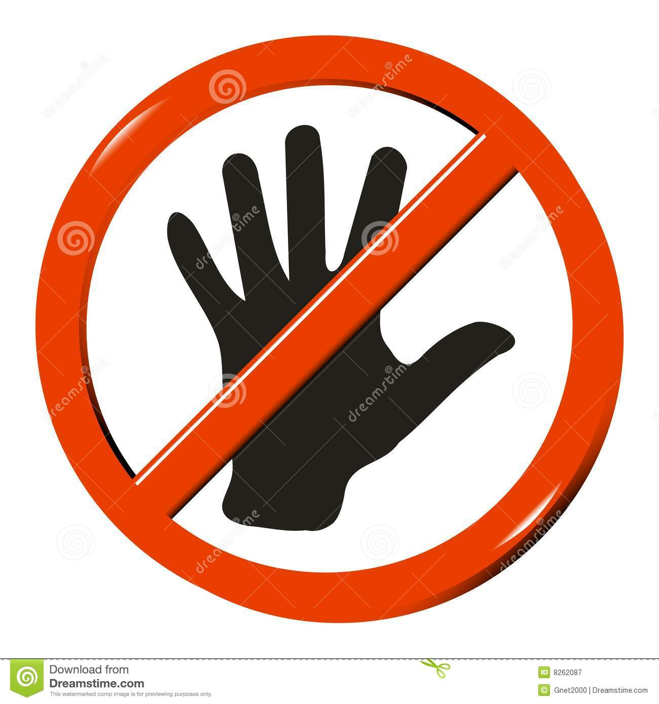 No Touching People Clipart.