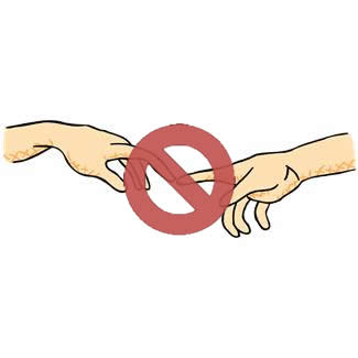 no touch clipart #12