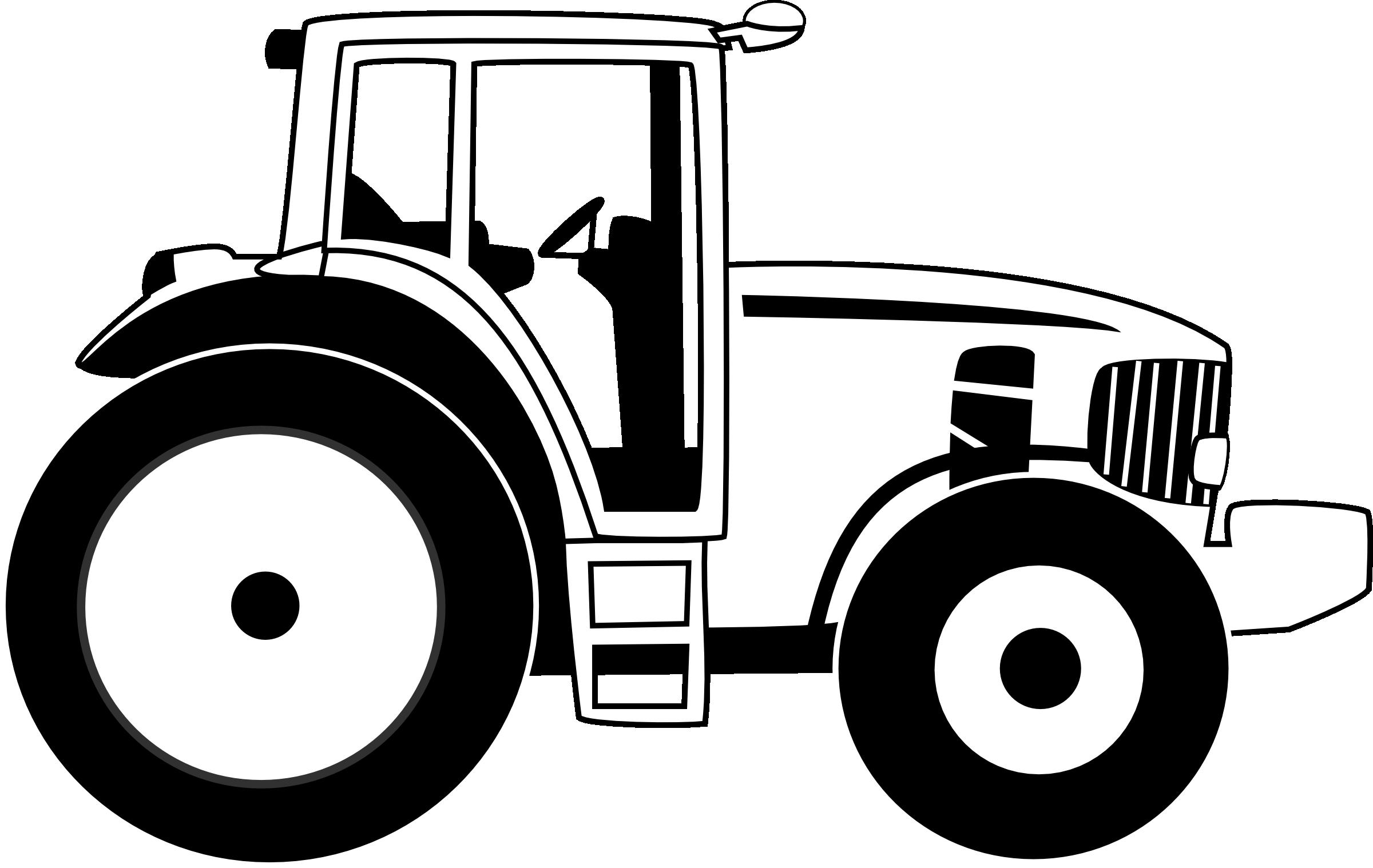 Tractor Black Clipart.