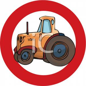 No_Tractors_Road_Sign_Royalty_Free_Clipart_Picture_090615.