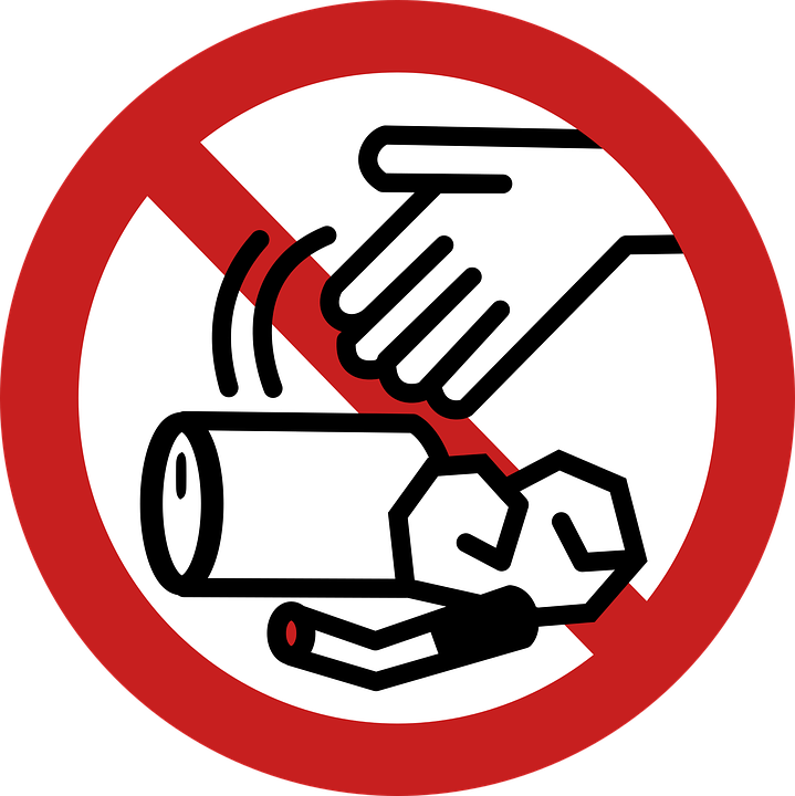 Free Clipart Of Trash Signs.