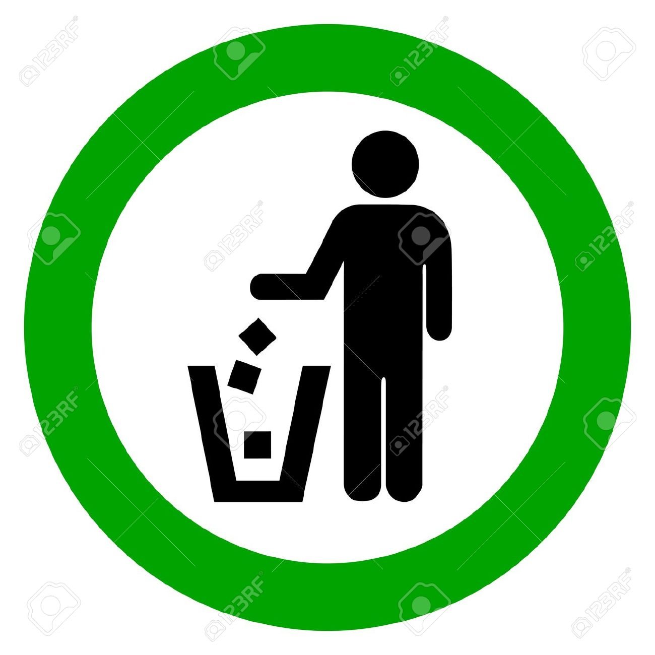 Keep Clean, No Littering Vector Sign Royalty Free Cliparts.